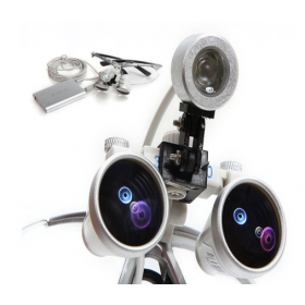 Dental Surgical Binocular Loupes 3.5 X420mm With Light