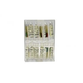 Pulpadent Barbed Broachers, Assorted, 21 mm pack of 12 files