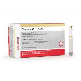 Septodont Setanest 1:100,000 Anesthetic Agent