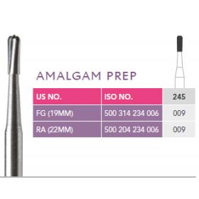 Prima Amalgam Prep Bur 245 Pk of 10 Burs