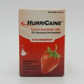 Hurricaine Topical Oral Anesthetic Gel Strawberry