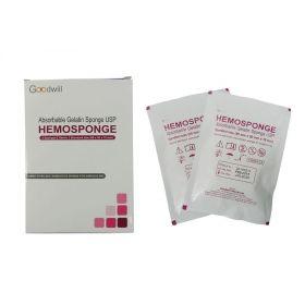Goodwill Hemosponge 80x50x10 MM Absorbable Gelatin Sponge 2/pk